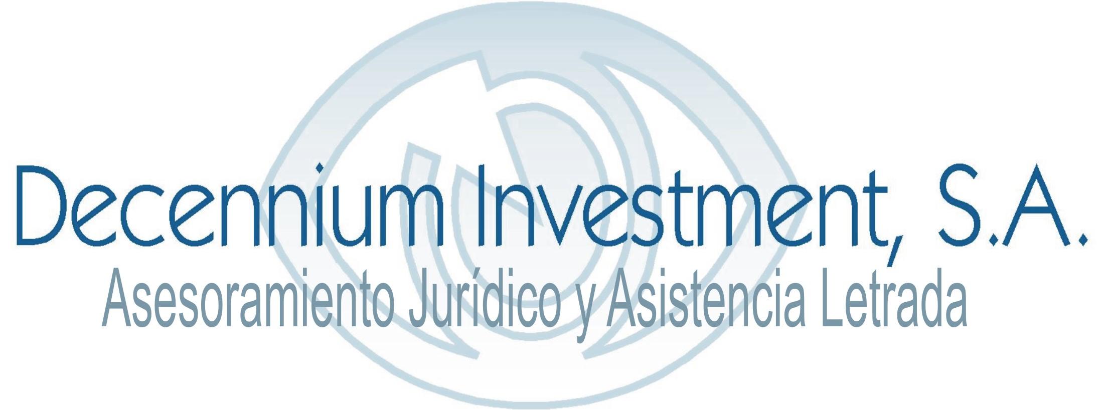 Decennium Investment - Asesoría Jurídica y asistencia letrada
